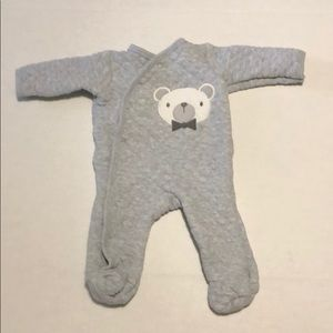 Chick pea gray quilted onsie size 0-3 months